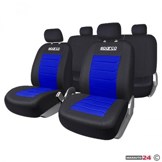Тапицерия за кола Sparco - 9 части, синя