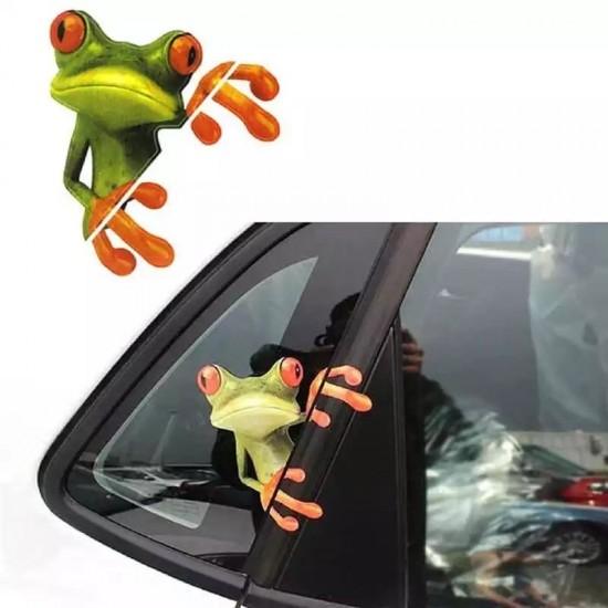 3D Стикер за кола жаба - водоустойчив