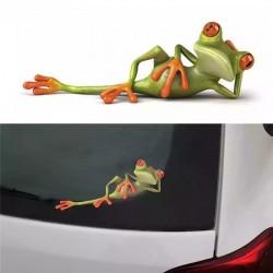3D Стикер за кола Frog - водоустойчив