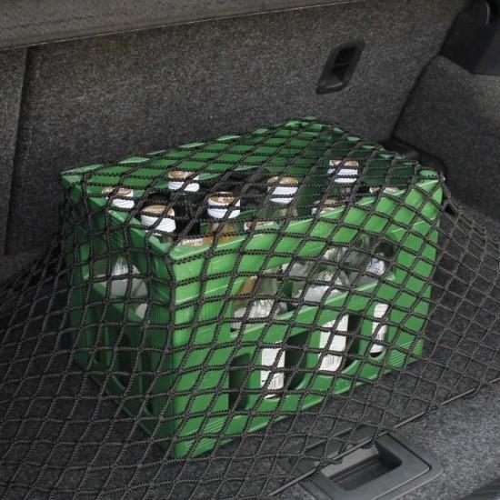 Мрежа за багаж, 50 x 75 см, черна, включени монтажни куки