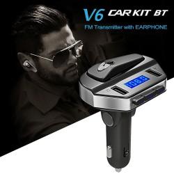 Трансмитер с hands-free слушалка V6