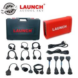 Launch X431 Адаптер за Тежкотоварни с пълен пакет софтуер + комплект кабели и куфар