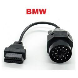 Кабел-преходник BMW 20 pin мъжки към 16 pin OBD2
