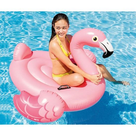 Надуваемо розово фламинго Intex 142х137х97 см. - Хита на Лятото!