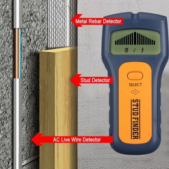 Комбиниран детектор за метал, дърво, кабели 3 в 1