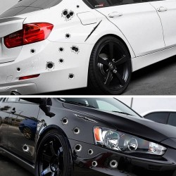Стикер за кола - дупки от куршум