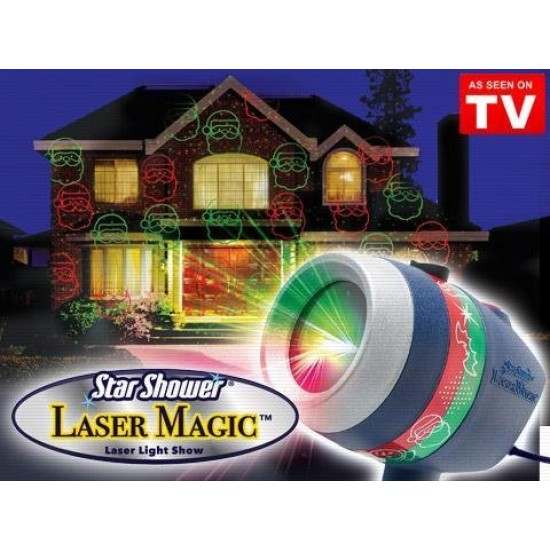 Водозащитен Лазерен коледен прожектор с точки и изображения с най-висок клас - Star shower