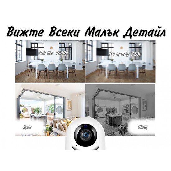IP Камера с двупосочно аудио и алармиране при движение и звук