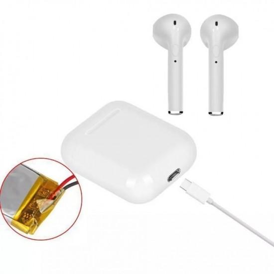 Безжични слушалки с powerbank за зареждане с кутийка Powerbank