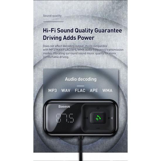 Bluetooth FM трансмитер и зарядно за кола за мобилни устройства Baseus + Дисплей