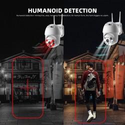 Безжична IP Камера с нощно виждане, FULL HD, Водоустойчива, 5 MP