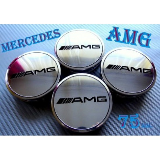 Капачки за джанти Мерцедес  - AMG 75 мм. - Немско качество!
