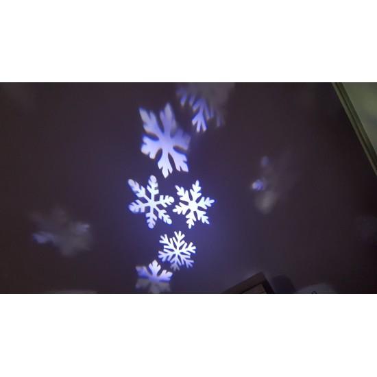 Парти прожектор със сменяеми фигурки - светлинна украса за къща