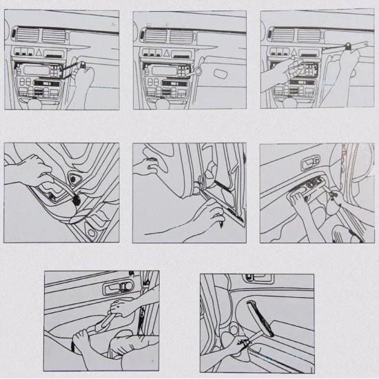 Ремонтен комплект инструменти за разглобяване и демонтаж на интериор