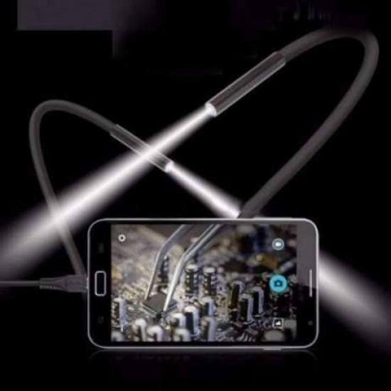 ВЪНШНА КАМЕРА(ЕНДОСКОП) ЗА ANDROID ИЛИ КОМПЮТЪР 5.5мм, 6 LED, 1 МЕТЪР USB