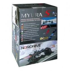 Магнитен багажник NORDRIVE MYURA S за 3 чифта ски/2 сноуборда