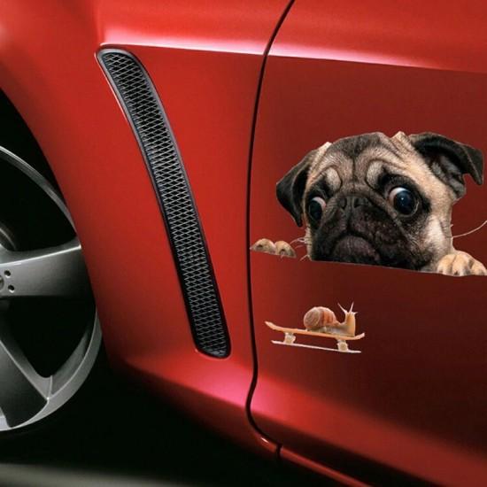3D Стикер за кола куче - Водоустойчив
