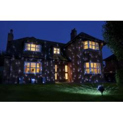 Коледен прожектор/Светлинна украса за къща - звезден дъжд