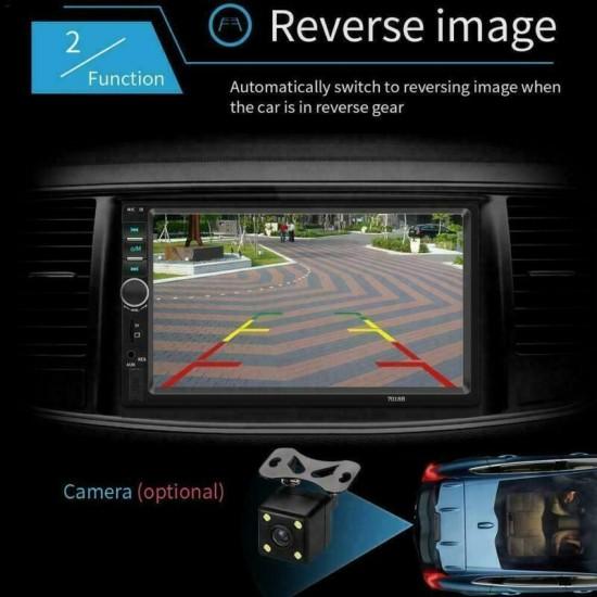 Мултимедия 2DIN, Bluetooth V2.0 Автомобилен аудио видео MP5 плейър + Подарък камера за задно виждане