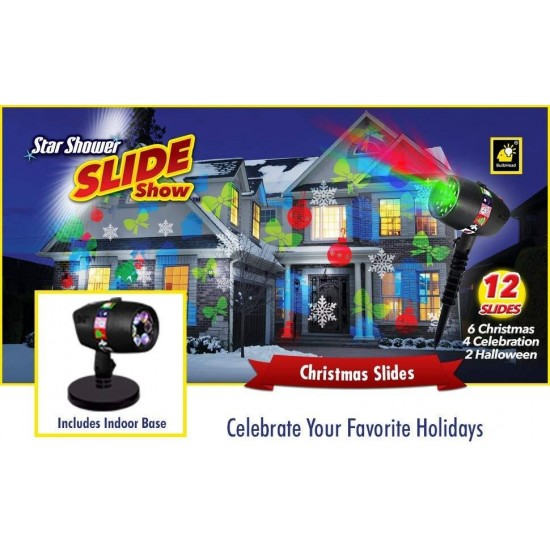 Прожектор лазер със сменяеми фигурки - Подходящ за Коледа, Хелиун, Рожден ден