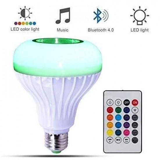 Блутут Тонколона LED Крушка RGB с дистанционно - Bluetooth колона