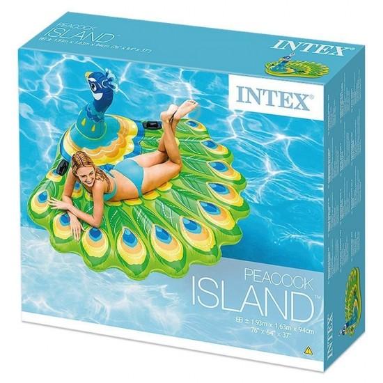 Надуваем остров Паун INTEX 193 х 163 х 94 см.