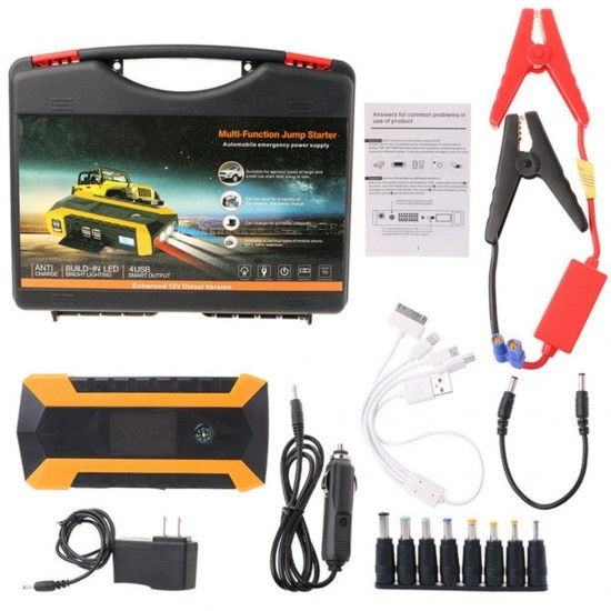 Външна батерия Jump starter Power Bank и бустер стартер за автомобили 89 800mAh