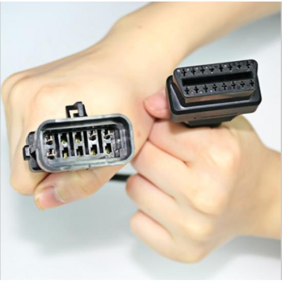 Кабел-преходник OPEL 10 pin мъжки към 16 pin OBD2