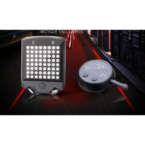Интелигентна задна светлина за велосипед 64LED