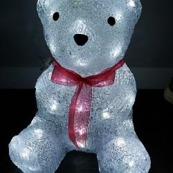 Светещо LED Коледно Мече с 40 LED Лампи