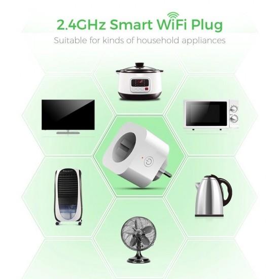 Смарт Wi-Fi контакт 10 ампера с LED индикатор