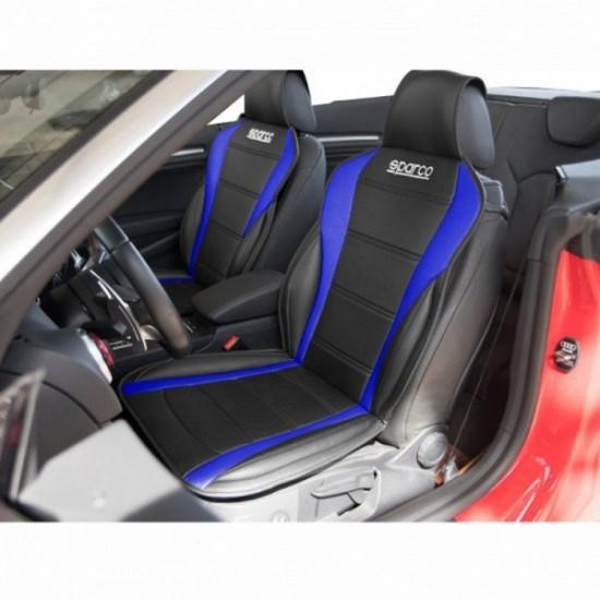 Универсален калъф за седалка Sparco - синя