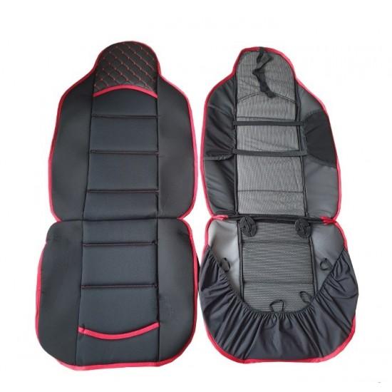 Комплект универсални калъфи за седалки на МПС - 2брк-т - черно с червено