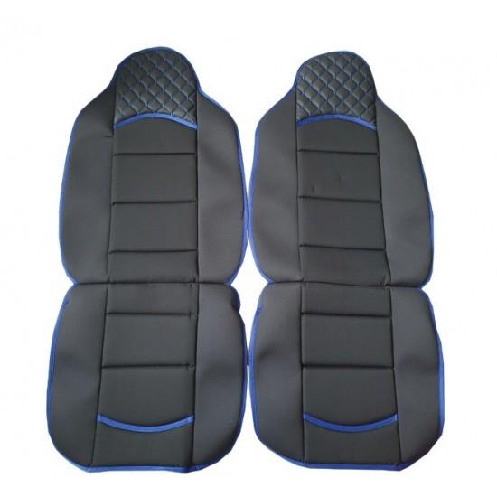 Комплект универсални калъфи за седалки на МПС - 2брк-т - черно със синьо