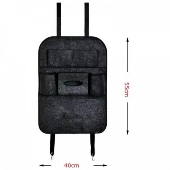 Текстилен органайзер за седалка - Сив